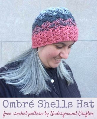 Ombré Shells Hat by Marie Segares/Underground Crafter