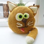 Crochet Cat Pillow Pattern by Jane Green of Beautiful Crochet Stuff