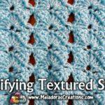 Gratifying Textured Shells Crochet Stitch Tutorial by Meladora's Creations