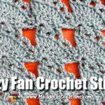 Lazy Fan Crochet Stitch Tutorials by Meladora's Creations