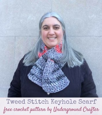 Tweed Stitch Keyhole Scarf by Marie Segares/Underground Crafter