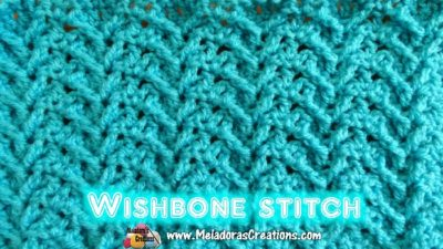 Wishbone Crochet Stitch by Meladora's Creations