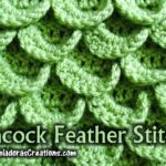 Peacock Feather Crochet Stitch Tutorials by Meladora's Creations