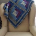 Tunisian Crochet Log Cabin Sampler Blanket by Marie Segares/Underground Crafter