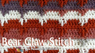 Bear Claw Crochet Stitch by Meladora's Creations