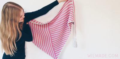 Stripe Me Shawl by Wilma Westenberg
