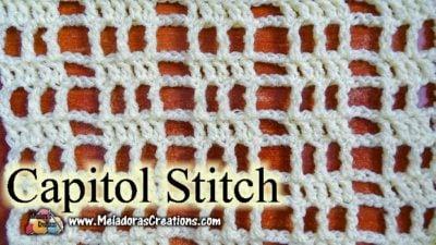 Capitol Crochet Stitch by Meladora's Creations