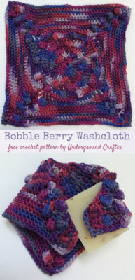 Bobble Berry Washcloth by Marie Segares/Underground Crafter