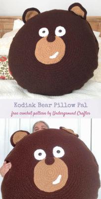 Kodiak Bear Pillow Pal by Marie Segares/Underground Crafter
