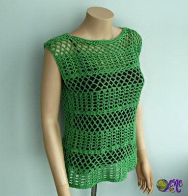 Summer Crochet Lace Top Pattern by CrochetN'Crafts.