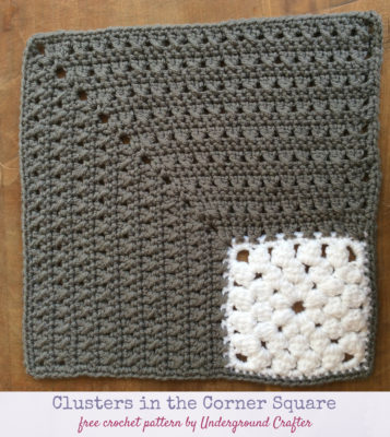Clusters in the Corner Square by Marie Segares/Underground Crafter