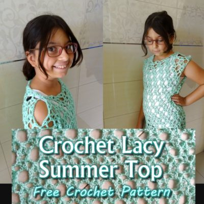 Crochet Lacy Summer Top by Candy Lifshes from Meladora's Creations