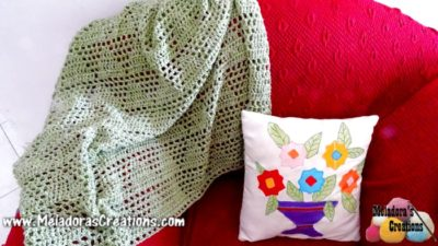 Diamond Lace Afghan by Meladora's Creations