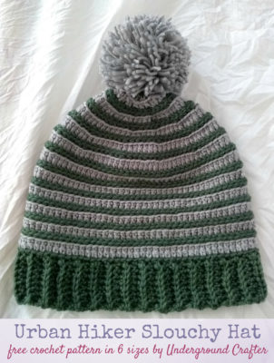 Urban Hiker Slouchy Hat by Marie Segares of Underground Crafter