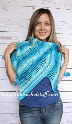 Crochet Baktus Scarf by Jane Green from Beautiful Crochet Stuff