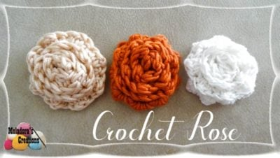 Crochet Rose by Candy Lifshes from Meladora's Creations