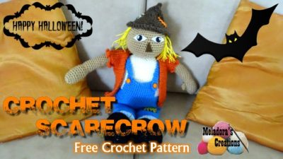 Crochet Halloween Scarecrow by Meladora's Creations