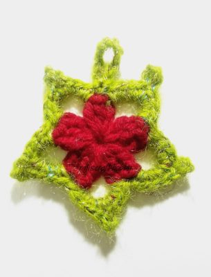 Crochet Christmas Star Ornament by Raji's Craft Hobby