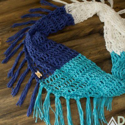 Beach Day Crochet Scarf Pattern by Ashley Dylan