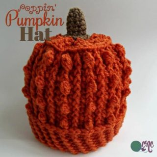 Free pumpkin hat crochet pattern.