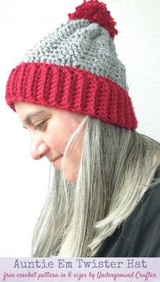 Auntie Em Twister Hat by Marie Segares/Underground Crafter