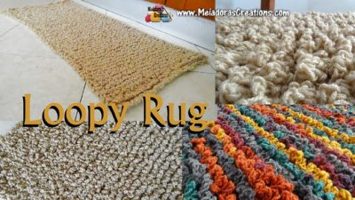 Loopy Rug shown in multiple colors, free crochet pattern by Meladora's Creations