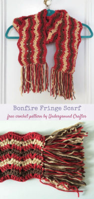 Bonfire Fringe Scarf by Marie Segares/Underground Crafter