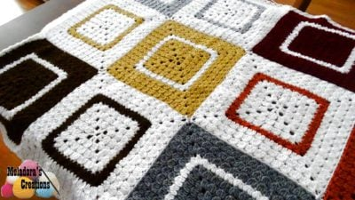 Cluster Granny Square Afghan by Meladora's Creations
