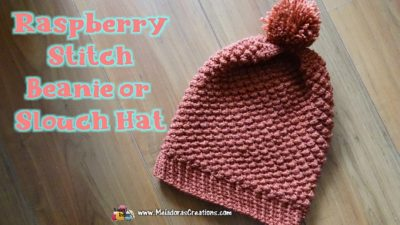 Raspberry Stitch Slouch Hat by Meladora's Creations