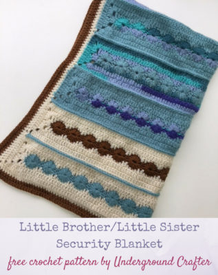 Little Brother/Little Sister Security Blanket by Marie/Underground Crafter