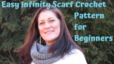 Easy Infinity Scarf Crochet Pattern for Beginners by maplewoodroad.com