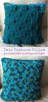 Twin Textures Pillow by Marie Segares/Underground Crafter