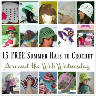 Crochet Summer Hats ~ 15 Free Crochet Patterns