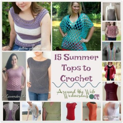15 Summer Tops to Crochet ~ FREE Pattern Roundup on CrochetNCrafts.com