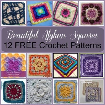 Beautiful Crochet Afghan Squares ~ Roundup on Stitches N Scraps