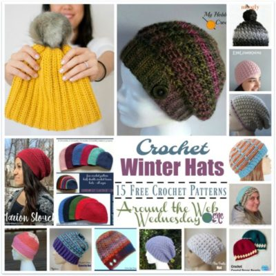 Crochet Winter Hats ~ FREE Pattern Roundup