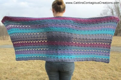 Greek Goddess Wrap Crochet Pattern by Caitlin's Contagious Creations
