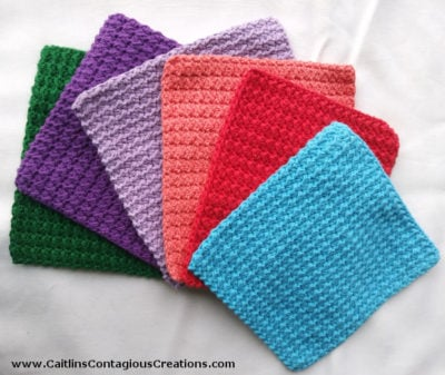 Crunch Stitch Dish Cloth by Caitlin's Contagious Creations