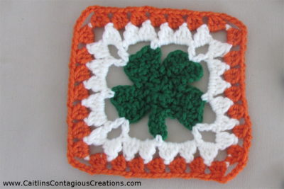 Shamrock Granny Square by Caitlin's Contagious Creations