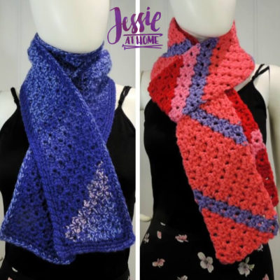 Scarf Squared – Half Double Crochet C2C Box Stitch by Jessie Rayot from Jessie At Home