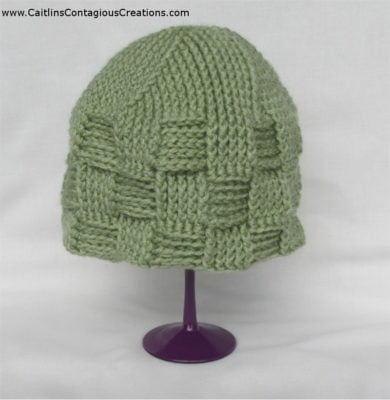 Spiral Star Basket Weave Beanie by Caitlin's Contagious Creations