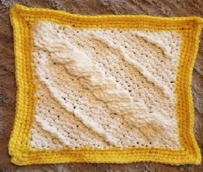 Cornered Cable Square by Crochet Anything
