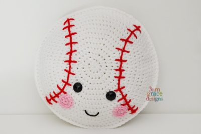 Baseball Kawaii Cuddler™ by Donna Beavers - 3amgracedesigns