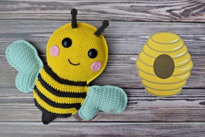 Bumblebee Kawaii Cuddler ™ by Donna Beavers - 3amgracedesigns