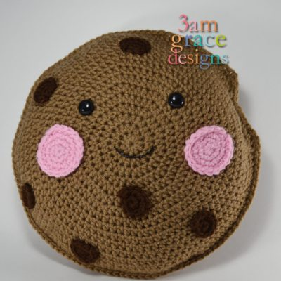 Chocolate Chip Cookie Kawaii Cuddler™ by Donna Beavers - 3amgracedesigns