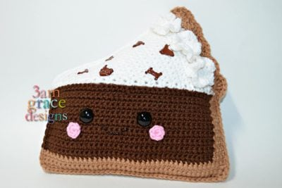 Chocolate Cream Pie Kawaii Cuddler™ by Donna Beavers - 3amgracedesigns