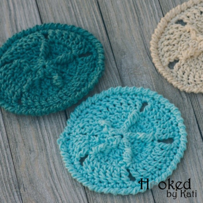 Sand Dollar Coasters by Kati Brown from Hooked by Kati