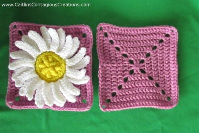 Daisy Square Crochet Pattern by Caitlin's Contagious Creations