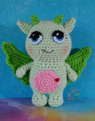 Dylan the Valentine Dragon by Donna Beavers - 3amgracedesigns
