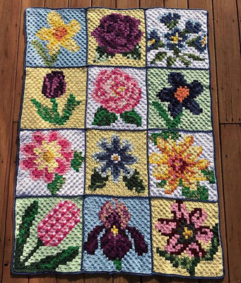 Nature Blanket C2C CAL by Donna Beavers - 3amgracedesigns